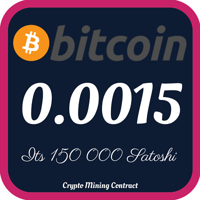 Bitcoin 0.00150000 BTC | MINING CONTRACT | Crypto Currency | Top 1 Coinmarketcap