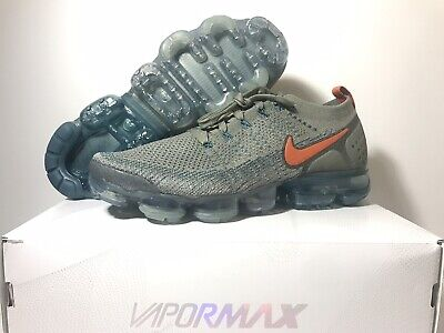 Nike Air Vapormax Flyknit 2 Men's Dark Stucco Light Silver 942842-011 Sz 11.5