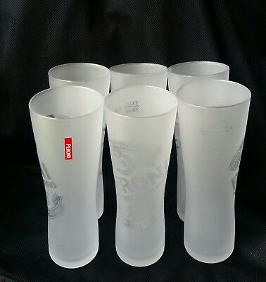 Set of 6 Quality Brand New Frosted Peroni Nastro Azzurro Beer Glasses 300ml