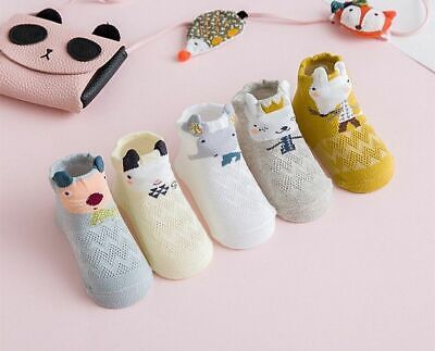 Newborns Baby Mesh Socks  Girl Boy Thin Soft Cotton Infant Cartoon Printed Socks
