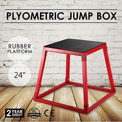 "24"" Plyometric Jump Box Fitness Exercise Jump Box Plyo Step Cross-fit Workout"