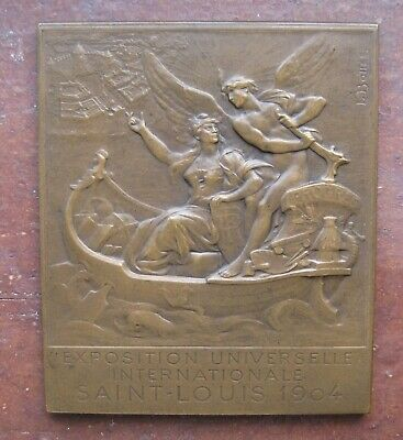 1904 Saint Louis Plaque / Medal - Exposition Universelle by L. Bottee