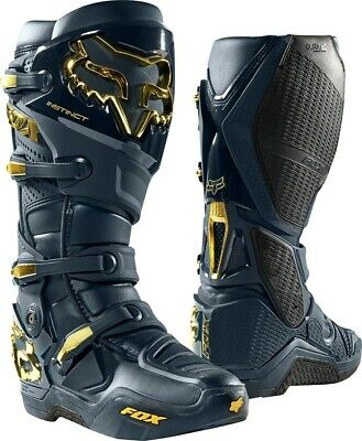 2019 Fox Instinct Limited Edition Motocross MX Boots NAVY GOLD Adults