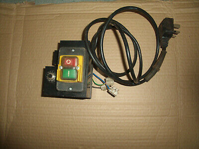 240v electric on/off motor starter with reset button ..cable and plug