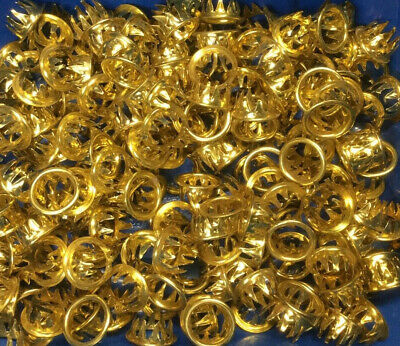 1 Dozen (12) Gold Brass Dial Key Hole Grommets Replacement for Grandfather Clock