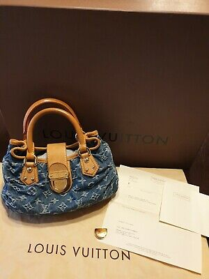 502adcb96eeeb LOUIS VUITTON Pleaty Monogram Denim VVN Blue Handbag M95020 borsa sac bag