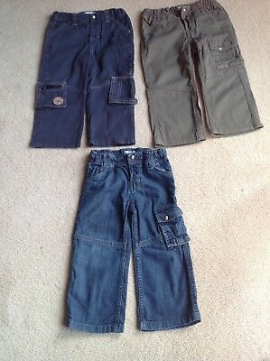 Boy's Trouser Bundle 3 x Pairs of Vertbaudet Trousers Age 2 Years