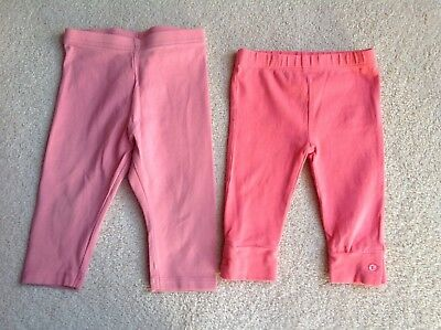 2 x Pairs Girls Leggings NEXT & Vertbaudet Age 3 - 9 Months