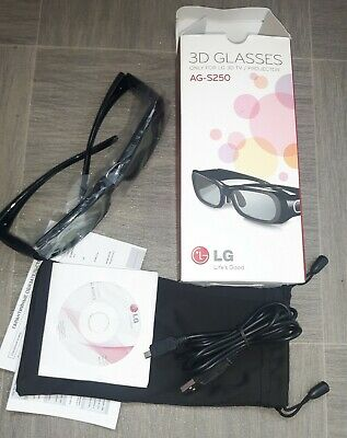 Lg 3D Glasses For Lg 3D Tv Or Projector Model Ag-S250 Ags-250