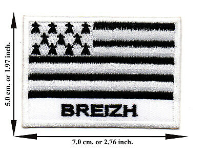 Breizh Travel Flag Nation Country Sport DIY Applique Iron on Patch Sew Crafts