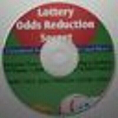 Lottery Odds Reduction System Simple Clear Winning Method Win Lotto CD ONLY!