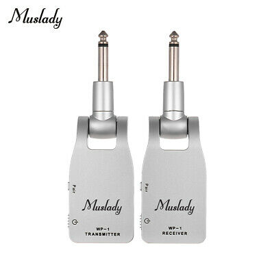 Muslady 2.4G Wireless Guitar System Transmitter & Receiver Built-In Battery X9Q6