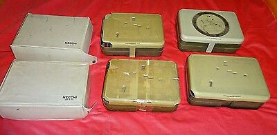 Vintage Necchi sewing machine accessories cams feet bobbins Lot of 6 Orig Boxes