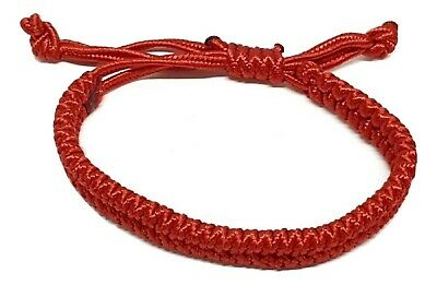 Lucky Unisex Red Chinese Bracelet Protection Feng Shui Red Adjustable Slip Cord