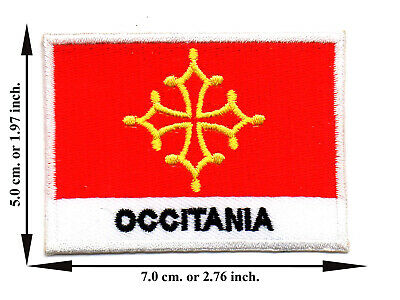 Occitania Travel Flag Nation Country Sport DIY Applique Iron on Patch Sew Crafts