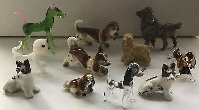 Job Lot Of Dogs Glass Metal Ceramic 11 in total