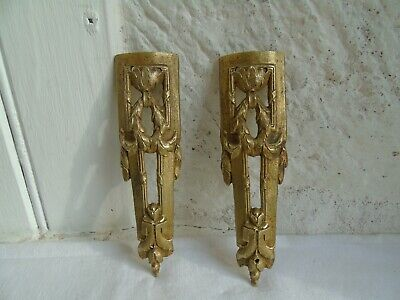 French antique a pair of ornately bronze decorative finials to any projects