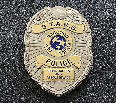 Resident Evil 2 Remake S.T.A.R.S. Raccoon City Police STARS Badge (75mm x 55mm)