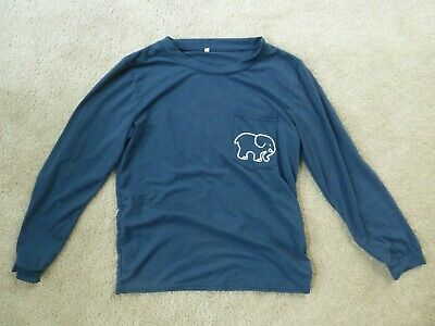 eeaa136a245b Ivory Ella Long Sleeve T Shirt Size S Small Navy Blue Paisley Elephants