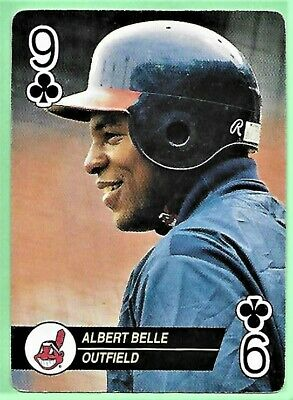 1993 Major League Baseball ACES Playing Card ALBERT BELLE Indians Outfield