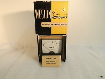 Vintage Weston Instruments AC Current Panel Meter Model 1301AC