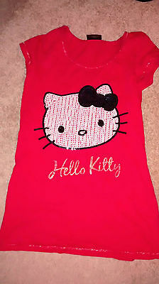 Girls red Hello Kitty tshirt with sequins Next age 11yrs