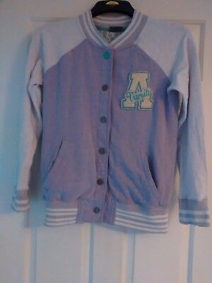 Girls lilac purple varsity long sleeved baseball jacket age 14 years Next