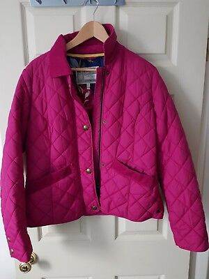 Tom Joules Pink Quilted Coat Padded Winter Size 16 XL