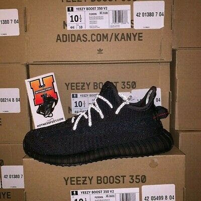 huge discount 1d7cb 0138e Adidas Yeezy Boost 350 V2 Black Non Reflective FU9013 Kids PS Size: 1Y-3Y