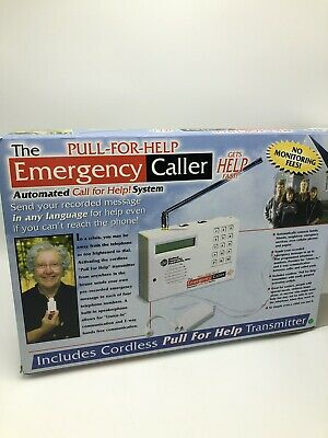 Pull For Help Emergency Caller System Cordless Transmitter Hands Free 2 Way