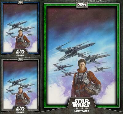 Topps Star Wars Card Trader Illustrated 2019 Wedge Antilles Green/Blue/Gray CTI