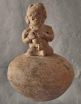 Ancient Antique Pre Columbian Effigy Vessel Ceramic