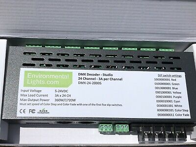 30 CHANNEL DMX Decoder LED Strip DMX512 Controller LED DMX