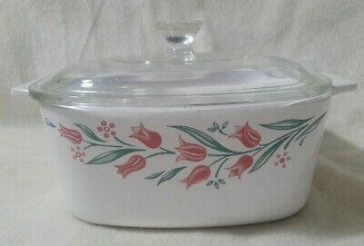 CORNING WARE Rosemarie 1 1/2 quart  Casserole  A- 1 1/2 -B with Lid A-7-C