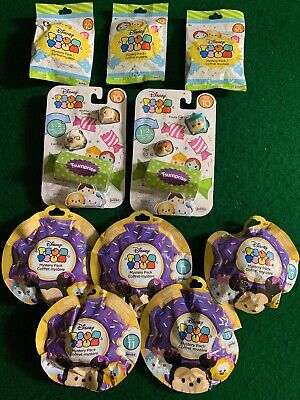 Disney Tsum Tsum Lot of 10 Unopened Series 10 & Series 11.  8 Mystery Pack + 2