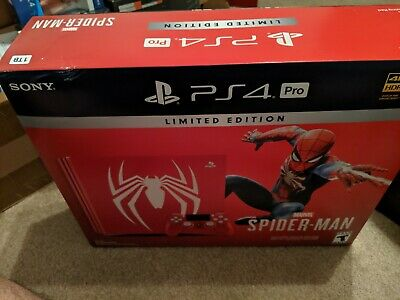 PlayStation 4 PS4 Pro 1TB Limited Edition Marvel's Spider-Man Console Bundle