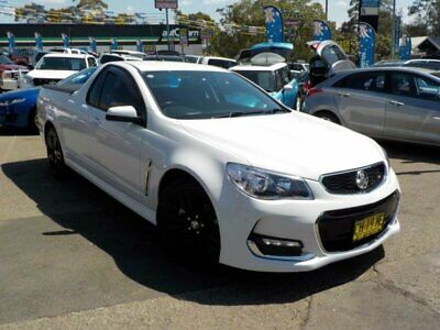2016 Holden Ute VF II SV6 White Automatic 6sp A Utility