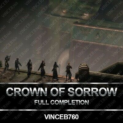 Destiny 2 Crown of Sorrows Raid Full Completion PS4/PC