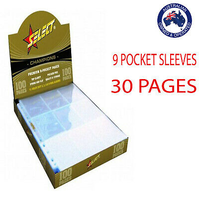 Champions Select Premium Afl Pokemon Trading Card 9 Pocket Sleeves 30 Pages