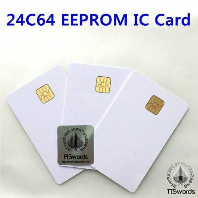 AT24C64 ISO7816 smartcard secure Memory 24C64 EEPROM blank connect smart IC card