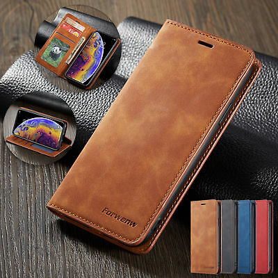 Case For iPhone 8 Plus 6s 7 XR Flip Card Holder Wallet Leather Stand Phone Cover