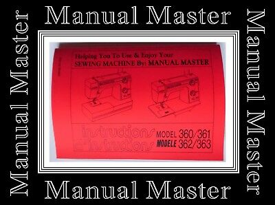 JANOME NEW HOME Model 360 361 362 363 sewing machine instructions Manual A4 SIZE