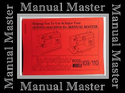 JANOME NEW HOME Models 109 & 110 sewing machine instructions Manual Book