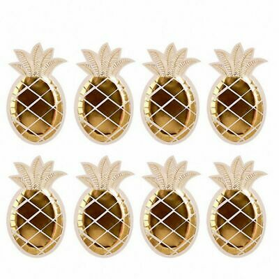 1X(Disposable Tableware Party Paper Plates Napkins Pineapple Birthday PartyS9X6)