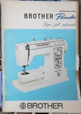 Original JONES BROTHER XL703, 703 Pacesetter Sewing Machine Instructions Booklet