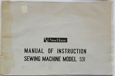 Original Janome New Home 531 Sewing Machine Instruction Manual Booklet
