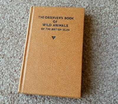 The Observer's Pocket Book Of Wild Animals of the British Isles 1958 Warne