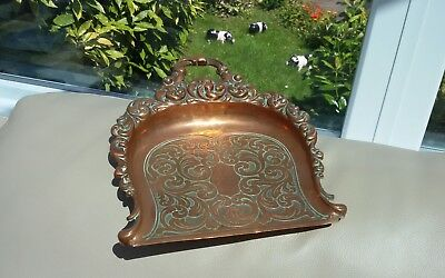 Antique Copper Crumb Tray Art Nouveau Beautiful Very Rare Style