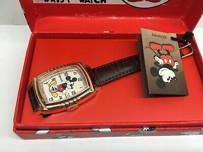 Ingersoll Mickey Mouse 30s Wrist Watch Watch Mechanical Disney New Box 5 Notch
