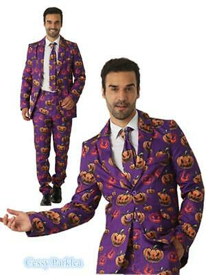 N3 Mens Stage Funny Fancy Dress STAG Stand Out Suits Halloween Pumpkin COSTUME